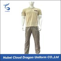 Wholesale Middle East Beige Security Guard Uniform Short Sleeve With Custom Logo / Label , CNAS Listed from china suppliers