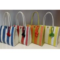 Wholesale Summer Woven Beach Bag Colorful PP Shopping Bag Strap Straw Tote Bag from china suppliers
