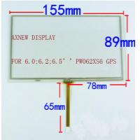 Wholesale 6.2 inch resistive touch panel screen for GPS navigation devices, GPS digitizer , DVD touch replacement from china suppliers