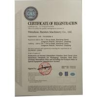 Wenzhou jhenten machinery co.,ltd Certifications