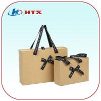 Wholesale Lovely Good Kraft Paper Bag with Ribbon Handle for Shopping/Gift from china suppliers