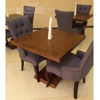 Quality Wooden Restaurant Furniture / Violet Modern Dining Room Chairs with Tufted Back for sale