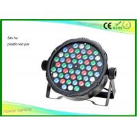 Wholesale Light Weight 54 X 1w RGBW Dmx LED Par Light With Plastic House CE / RHOS from china suppliers
