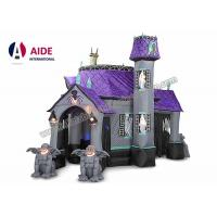 Wholesale 10ft customized new style halloween inflatable haunted house with led lights for decoration from china suppliers