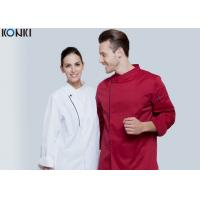 Wholesale Long Sleeve Western Style Hotel Chef Uniform / White Chef Coat from china suppliers
