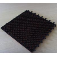 Wholesale Black Outdoor / Indoor WPC DIY Tile Easy Install and Low Maintenance from china suppliers