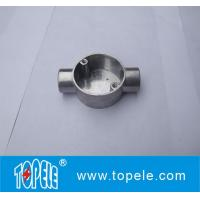 Wholesale TOPELE 20mm / 25mm BS4568 / BS31 Electrical Two Way Circular Angle Aluminum Junction Box, Electrical Conduit Fittings from china suppliers