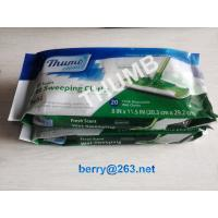Wholesale Fresh scent disposable 20pcs wet sweeping cloth from china suppliers