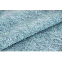 Wholesale Plush Soft Textile Solid Blue Fabric , Fashion Wool Mohair Upholstery Fabric from china suppliers