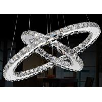 Wholesale 25 Watt LED Chrome Crystal Ring Chandelier Lamp For Dining Room , Doubel Circle from china suppliers