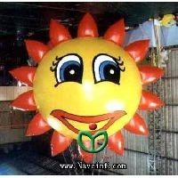 Wholesale Sunflower flowers elves inflatable balloon, advertising inflatable helium balloon from china suppliers