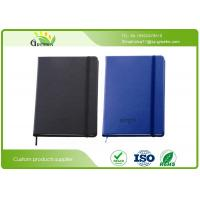 Wholesale Delicate PU Leather Cover Custom Embossed Notebook with Pens Elastic Band from china suppliers