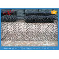 Wholesale Hexagonal Rock Gabion Baskets , Gabion Fence Panels Various Mesh Size from china suppliers