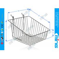 Wholesale Custom Chrome Metal Supermarket Wire Display Baskets in Black from china suppliers