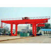 Wholesale 50 Ton Container Double Beam Gantry Crane With Spreader Overload Protection from china suppliers