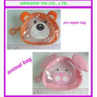 Wholesale Animal shape pvc zipper bag,  Customized pvc cartoon bag from china suppliers