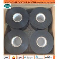 Quality Black / White Waterproof Pipe Tape , Gas Pipe Tape With Polyethylene Backing for sale