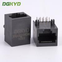 Wholesale 1x1 side entry tab down RJ45 connector female ethernet socket for network switch from china suppliers