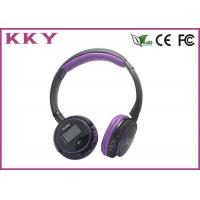Wholesale Purple Wireless Headphones With Bluetooth , Bluetooth Cordless Headphones For Smartphone from china suppliers
