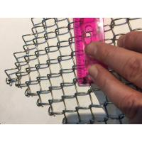 Buy cheap Chainlink Wire Mesh Conventional Belt / Wire Mesh Conveyor Belt / chain link fencing from wholesalers