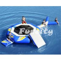 Wholesale 0.9MM Thickness PVC Tarpaulin airtight inflatable trampoline combo from china suppliers