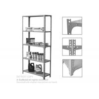 Wholesale Adjustable Steel Slotted Angle Shelving Racks Five Tiers For Industrial Storage from china suppliers
