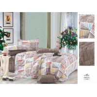 Buy cheap Bedroom Brown Patterned Decorative Flat Queen Size 100 Cotton Bedding Set from wholesalers