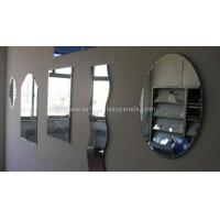 Wholesale Double Coated Paint Aluminium Glass Mirror , Decorative Bathroom Mirror With Shelf from china suppliers