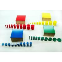 Wholesale Montessori Set of Knobless Cylinders from china suppliers