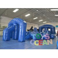 Wholesale Popular Sport Blue Big Inflatable Paintball Obstacle For Laser Tag 0.9MM PVC CE from china suppliers