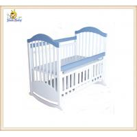 Wholesale Lovely Carton White Wooden Baby Cribs , Fold Unique Baby Cribs from china suppliers