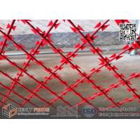 Wholesale Red Powder Coated Welded Razor Mesh Fencing 75X150mm Rhombus Hole | 1.8m height | 6m width from china suppliers