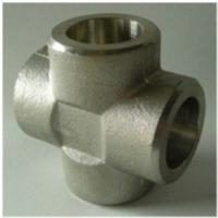Wholesale Cross Tee Forged Steel Fittings, ASTM B564 Nickel Alloy flangeolet , weldolet , reduce tee , elbow , cap , tee from china suppliers