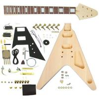 Wholesale Flying V Style DIY Electric Guitar Kits Semi Finished Guitar Kit AG-FV1 from china suppliers