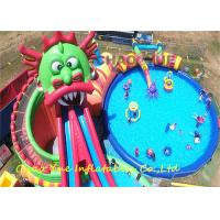 Wholesale Customized Logo PVC Dragon Inflatable Water Slide Park With Sewing / Hot Welded from china suppliers