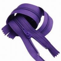 Buy cheap Nylon Zipper, Various Sizes are Available from wholesalers