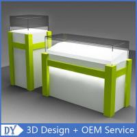 Buy cheap Modern Fashion White Green Wooden Glass Display Plinths With Free Design Service from wholesalers