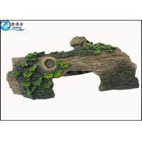 Wholesale Hollow Log Tree Aquarium Ornament With Green Plants ,  Custom Tropical Fish Tank Decorations from china suppliers