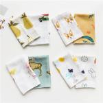 China Cute Animal Pattern Baby Muslin Handkerchief Cloth Custom Printing for sale