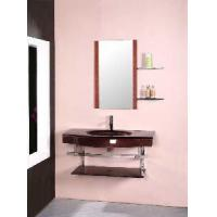 Wholesale Red Color Wall Mounted Glass Bathroom Vanity Cabinet (5165) from china suppliers