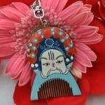 Wholesale Key Ring Gift Wooden Comb from china suppliers