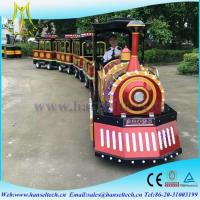 Wholesale Hansel cheap amusement park rides trackless train,mini electric tourist train rides for sale from china suppliers