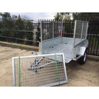Wholesale Hot Dipped Galvanized Tandem Cattle Trailer With Cage Flat Top 8 X 5 from china suppliers