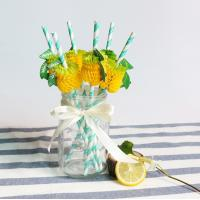 Wholesale Simple Pattern Colored Paper Straws , Retro Paper Straws Environmentally Friendly from china suppliers