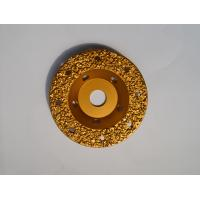 "Wholesale 5"" Tungsten Carbide Abrasive Disc Vacuum Brazed / Concrete Grinding Wheel from china suppliers"