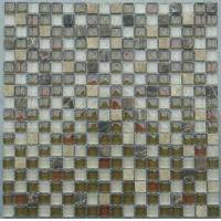 Wholesale Colorful Natural Stone Glass Mosaic Tile 23x23mm For Exterior Decoration from china suppliers