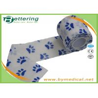 Wholesale White Colour dog pawprint Veterinary elastic Non Woven Cohesive Bandage Coflex Pet Bandage from china suppliers