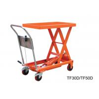 Wholesale Vehicular Pneumatic Motorcycle Lift Table , Stationary Scissor Hydraulic Scissor Lift Cart from china suppliers