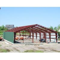 Wholesale Double Span Steel Building Frame , Industrial Steel Framed Buildings With H Type Columns / Beams from china suppliers