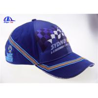 Wholesale Cotton Woven Racing Baseball Caps 6 Panel from china suppliers